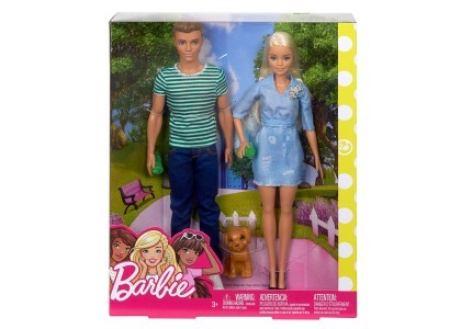 Barbie i Ken z pieskiem Barbie FTB72
