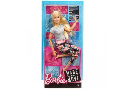 Kwieciste Made to Move - Blondynka Barbie FTG80 / FTG81