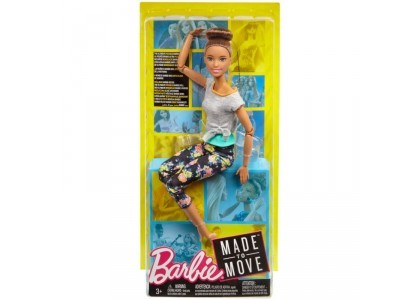 Kwieciste Made to Move - Mulatka Barbie FTG80 / FTG82