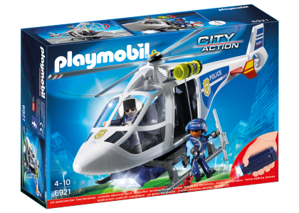 Helikopter policyjny z reflektorem LED City Action 6921
