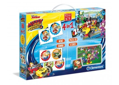 Edukit 4 W 1 Mickey And The Roadster Racers  Clementoni 13760