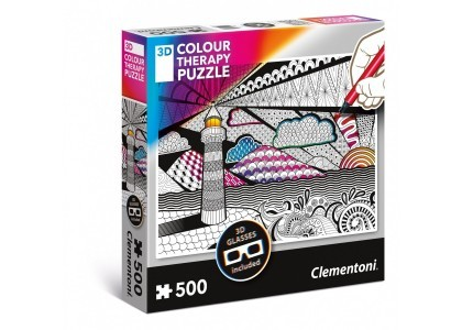 3D COLOR THERAPY Latarnia 500 elementów Puzzle Clementoni 35052