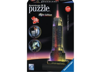 Empire State Building Nocą  Puzzle 125661