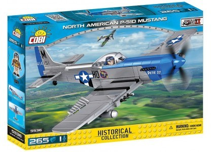 North American P-51D Mustang - myśliwiec amerykański Small Army 5536