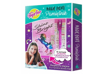 Pamiętnik Magic Light Unicorn - zestaw Stnux 2643