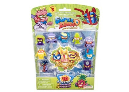 Blister figurek - 10 Pack  Super Zings PSZ3B016IN00