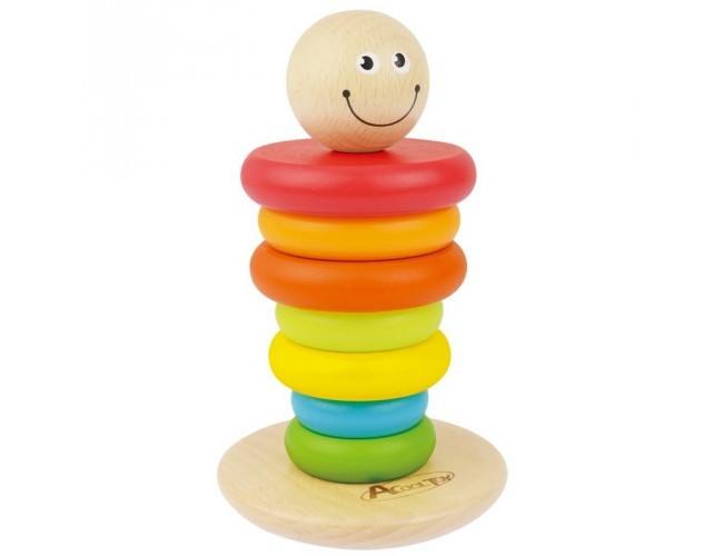 ACool Toy Piramidka drewniana z buźką Artyk   sklep z ...