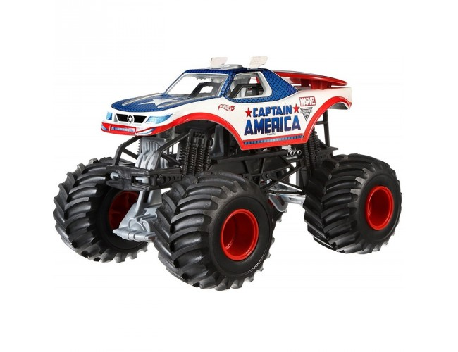 Monster Jam Superterenówka 2 - Kapitan Ameryka Hot Wheels CBY61 / CHV12