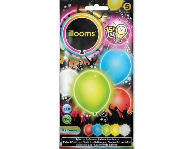 Balony Led Mix 4-pak iLLooms 80005