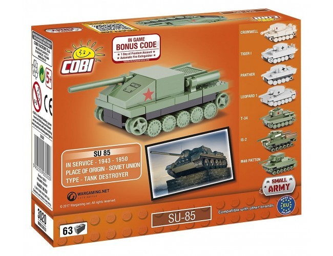 Czołg Su-85 Nano Small Army 3020